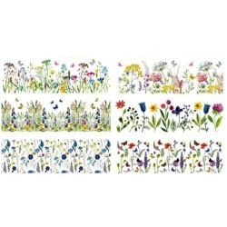 AN - 835 Zmršťovacie fólie sada 12 kusov jemné kvety