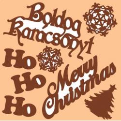 PEN-26923 Drevený výrez-Merry Christmas