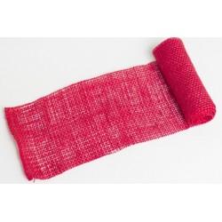 JUTA- 11 Jutová tkanina 12x130cm červená 211g