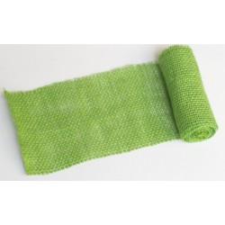 JUTA- 13 Jutová tkanina 12x130cm sv.zelená 211g
