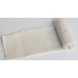 JUTA- 15 Jutová tkanina 12x130cm biela 211g