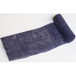 JUTA- 36 Jutová tkanina 12x130cm tm.modrá 211g
