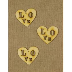 CFB-252  Srdce Love drevené figurky 3ks