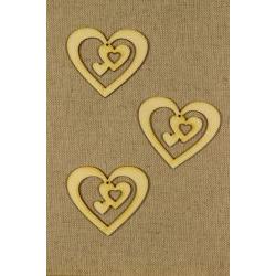 CFB-258 Srdce in 3 drevené figurky 3ks