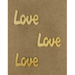 CFB-924  Love 7cm drevené figurky 3ks