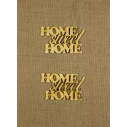 CFB-9292  Home sweet Home 10x6cm  2ks