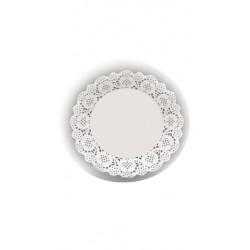 HD-613731 Biele krajky okrúhle 11,5cm/24ks