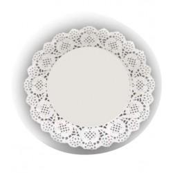 HD-613733 Biele krajky okrúhle 21,5cm/16ks