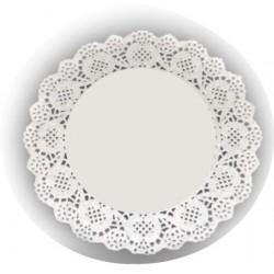 HD-613735 Biele krajky okrúhle 30,5cm/12ks