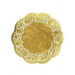 HD-613745z Zlaté krajky okrúhle 11,5cm/12ks