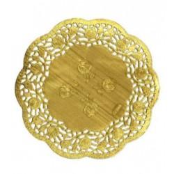 HD-613746z Zlaté krajky okrúhle 16,5cm/12ks