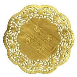HD-613747z Zlaté krajky okrúhle 21,5cm/12ks