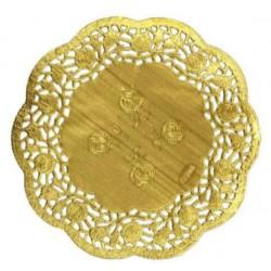 HD-613748z Zlaté krajky okrúhle 26,5cm/12ks