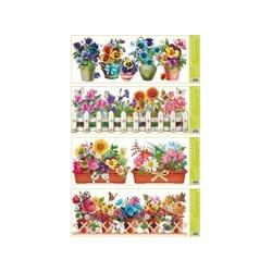 AN-877 Okenná dekorácia kvety 55x22,5cm
