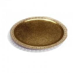 PYCG30  Tortový podnos zlatý 30cm