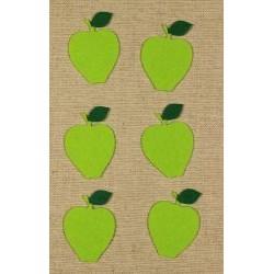 CFA-204  Jablká zelené 6x4cm 6ks