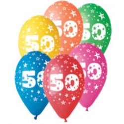 PF-21017 Balón 30cm/5ks číslo 50