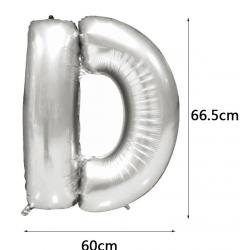 PF-60041S   D písmeno strieborné 70cm