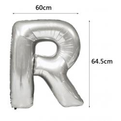 PF-60055S   R písmeno strieborné 70cm