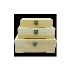 PEN-6338 Set drevených boxov  26x9,3x15cm