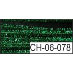 CH06-078   Ženília – Metalická zelená