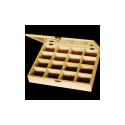 PED-10313  Box so 16 priehradakami 27x21x5cm