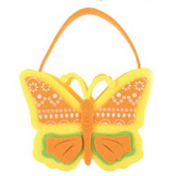 AN-8197 kabelka z filcu motýľ 16x12cm