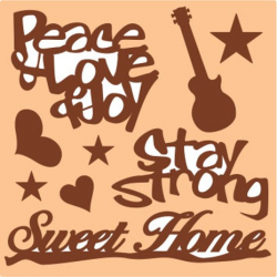 PEN-26914 Drevený výrez-Sweet home