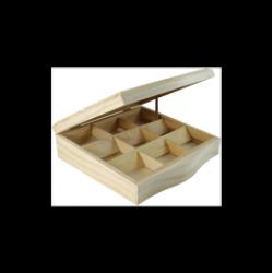 PED-11247  Box s 9 priehradkami 24x24x7,5cm