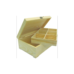 PED-5857  Box na čaj 6 priehradok 24x15x8,5cm