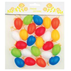 AN-8231 vajíčka mix farieb 24ks 4cm