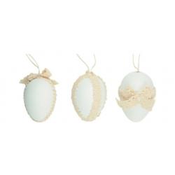 AN-8042 vajíčko biele s ozdobou 6cm