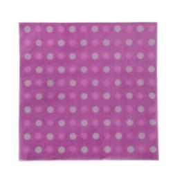 PF-30575 Ružové-bodky servítky 33x33cm/16ks