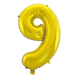 PF-60037Z  Číslo 9 zlatý balón 75cm