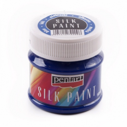 PEN-17775 modrá farba na hodváb 50ml