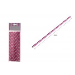 PF-30576 Ružové bodky  slamky na pitie/12ks