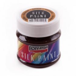 PEN-17782 Karamelová trblietavá farba na hodváb 50ml