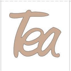PEN-32174 Drevný nápis - Tea 5ks 10cm