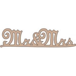 PEN-32903 Drevený nápis - Mr&Mrs 5ks10cm