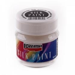 PEN-17797 biela mix farba na hodváb 50ml