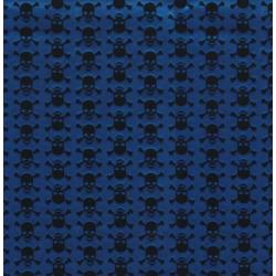 TAP - 12652 Tapeta Skull metalic blue 45cm x 15m