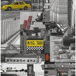 TAP - 11920 Tapeta City taxi 90cm x 15m