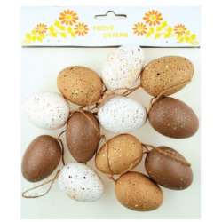 AN-8246 vajíčka hnedo biele 12ks 6cm