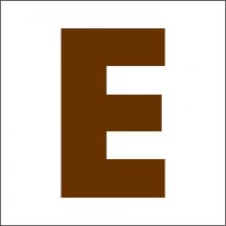 PEN-23664 písmeno E drevené 45mm, 10ks
