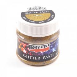 PEN-13051 Zlatá glitrová pasta jemná 50ml