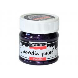 PEN-3507   Farba akryl – Fialová trblietavá metalic