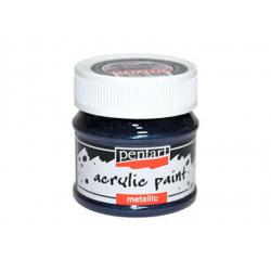 PEN-3508   Farba akryl - Modrá trblietavá metalická