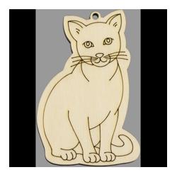 PEN-22768 Drevená figurka mačka  5ks