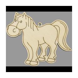 PEN-22770 Drevená figurka 5ks kôň