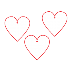 PEN-23089 Drevená figurka 328 srdce 15ks